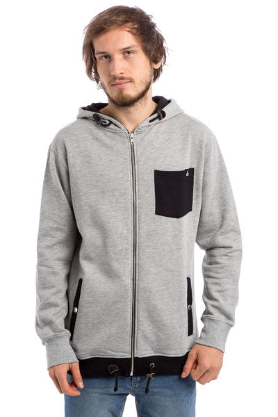 Anuell Callum Zip-Hoodie (heather grey black)