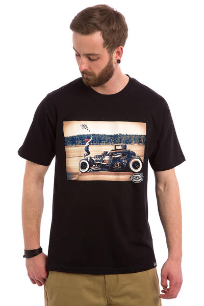 Dickies Hot Rod Flag T-Shirt (black)