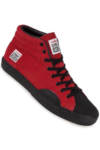 Vision Streetwear Suede Hi Schuh (red black)