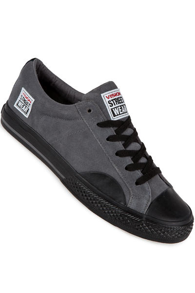 Vision Streetwear Suede Lo Chaussure (charcoal black)