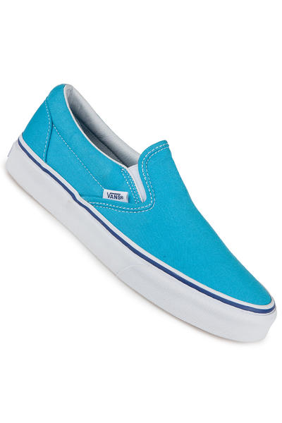 Vans Classic Slip-On Schuh women (cyan blue true white)