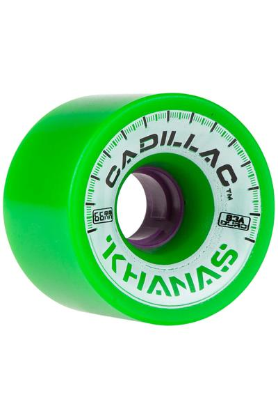 Cadillac Wheels Khanas 66mm 83A Roue (green) 4 Pack