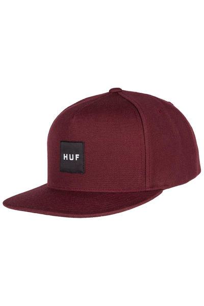 HUF Box Logo Snapback Cap (wine)