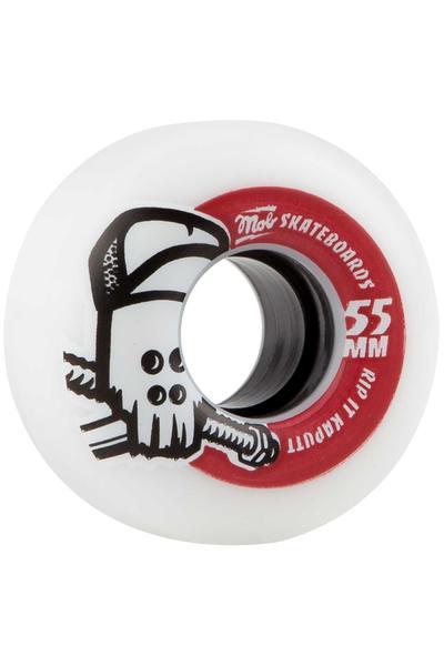 MOB Skateboards Skull 55mm Rollen (white red) 4er Pack