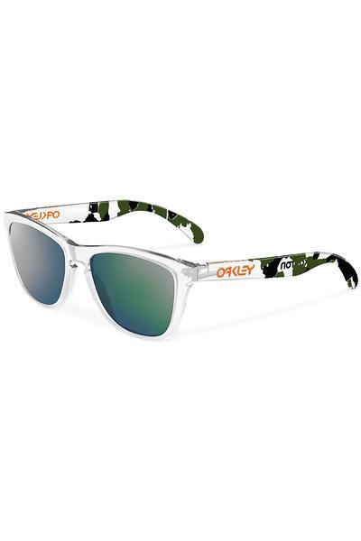Oakley Eric Koston Frogskin Sonnenbrille (clear camo emerald iridium)