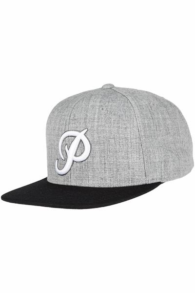 Primitive Classic P Snapback Cap (heather grey black)