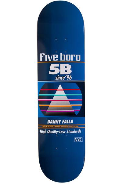"""5BORO Falla VHS Pro Series 8.125"""" Planche Skate (blue)"""