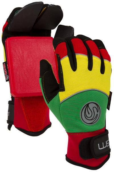 Lush Freeride Deluxe Slide Gloves (rasta)