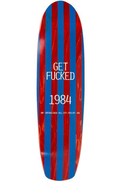 "HUF Get Fucked Cruiser 7.5"" Deck (red)"