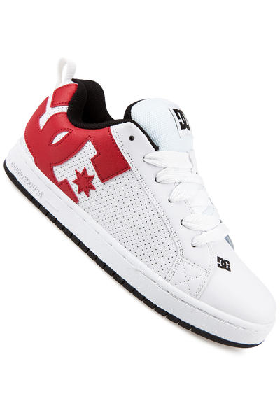 DC Court Graffik Shoe (white red black)