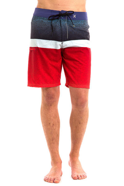 "Hurley Phantom Blocked Flight 19"" Boardshorts (university red)"