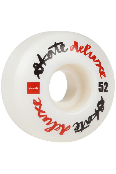 Chocolate x skatedeluxe Chunk 52mm Wheel (white) 4 Pack