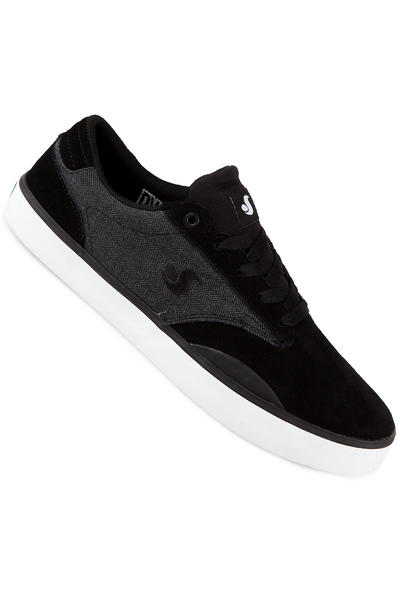 DVS Daewon 14 Suede Shoe (black grey herringbone)