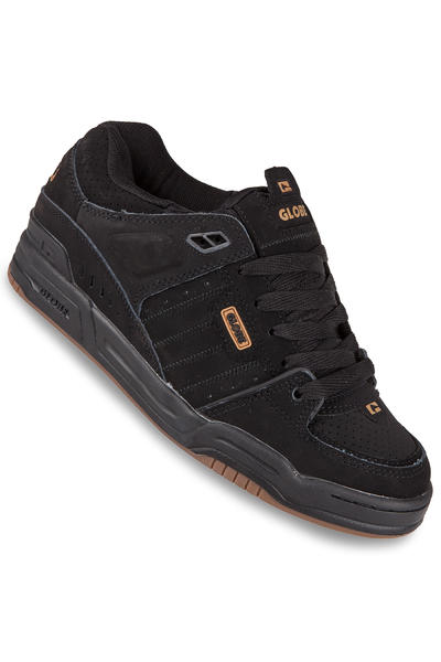 Globe Fusion Nubuck Shoe (black black brown)
