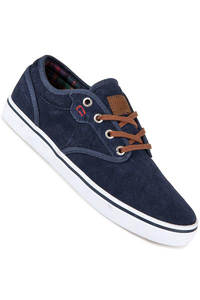 Globe Motley Suede Shoe (navy plaid)