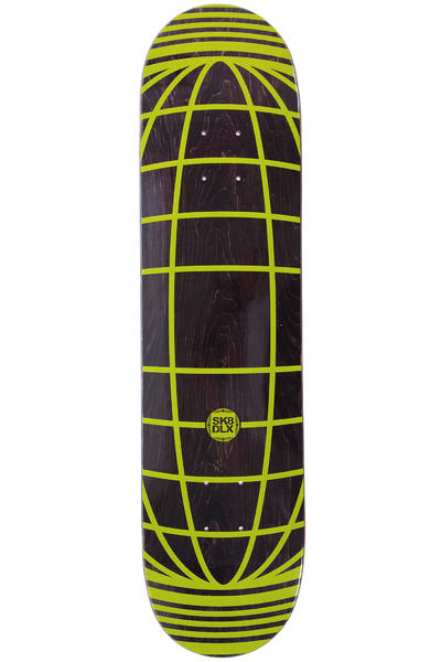"SK8DLX Global Series 7.625"" Deck (black yellow)"