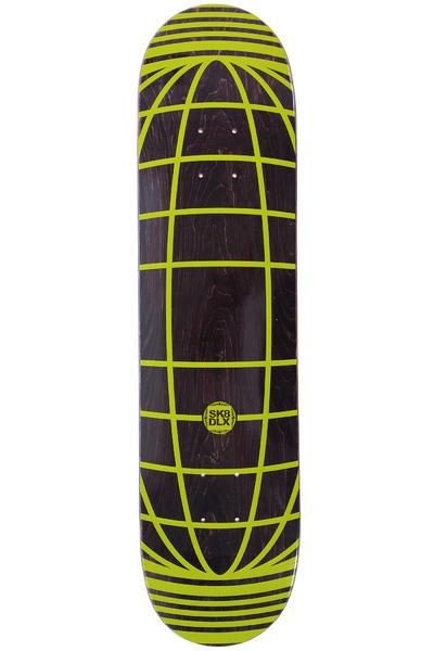 "SK8DLX Global Series 7.625"" Deck (black yellow)"