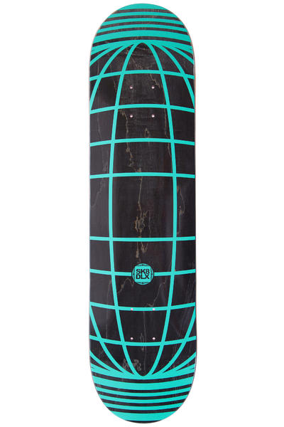 "SK8DLX Global Series 7.875"" Deck (black turquoise)"
