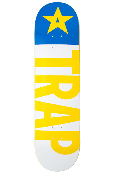 "Trap Skateboards Classic Big Flag Pool 8.5"" Deck (white yellow)"