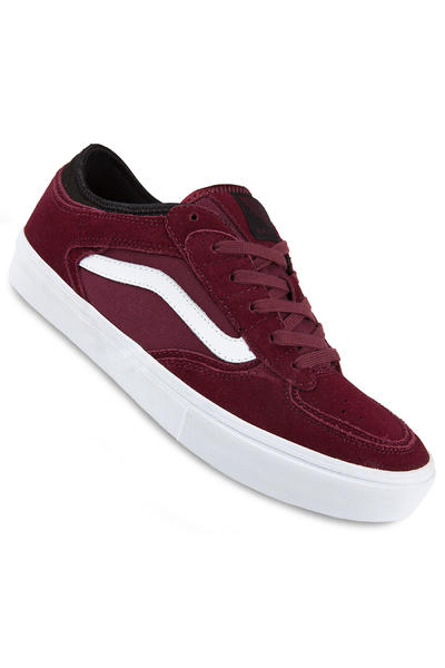 Vans Rowley Pro Suede Shoe (wine black white)