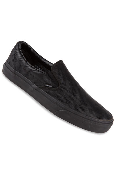 Vans Classic Slip-On Leather Shoe (perf black black)