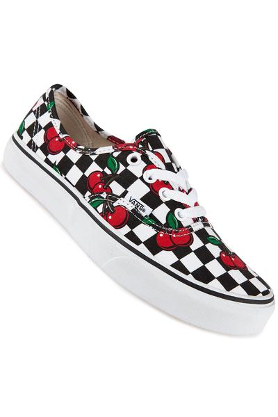 Vans Authentic Shoe women (cherry checkers black true white)