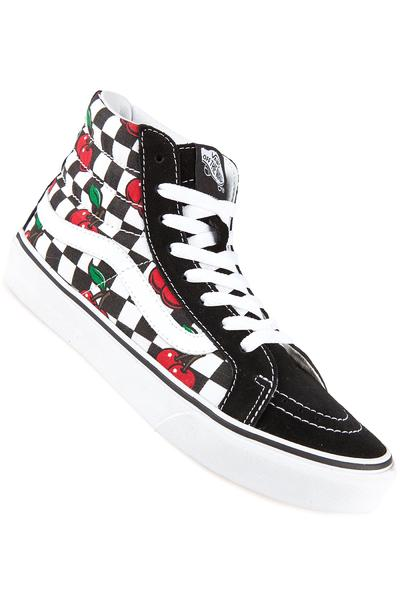 Vans Sk8-Hi Slim Schuh women (cherry checkers black true white)