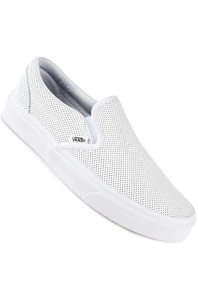Vans Classic Slip-On Leather Schuh women (perf white)