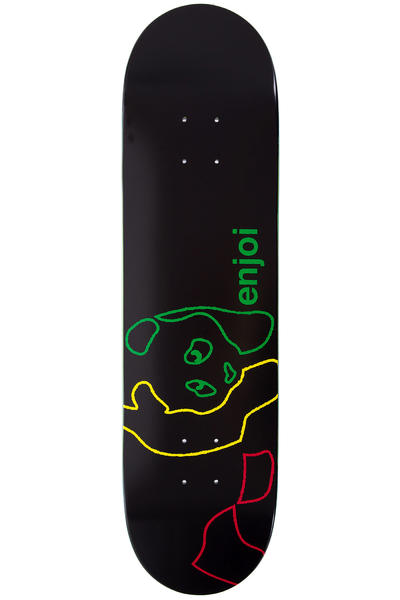 "Enjoi Neon Rasta Panda 8"" Deck (black)"