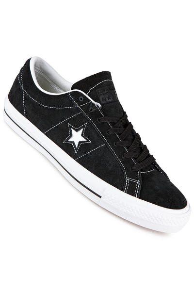 Converse CONS One Star Pro Skate Suede Shoe (black white black)