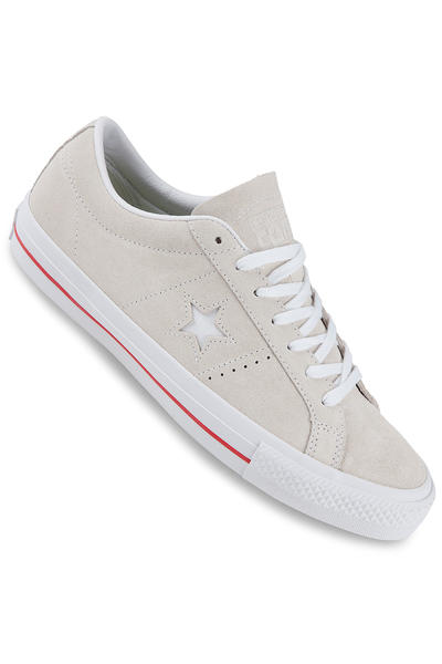 Converse CONS One Star Pro Skate Suede Schuh (egret white red)