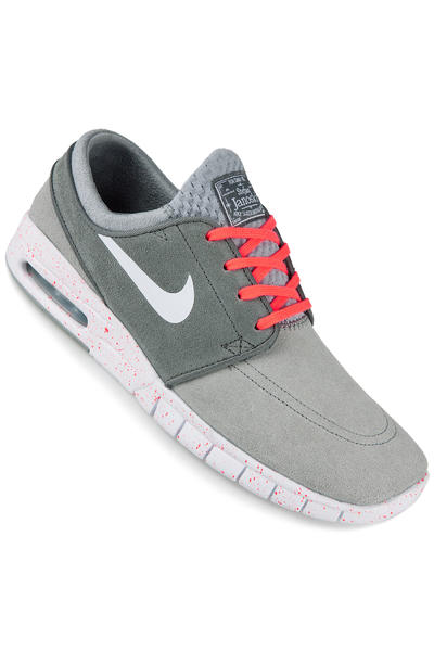 Nike SB Stefan Janoski Max Leather Shoe (wolf grey white)
