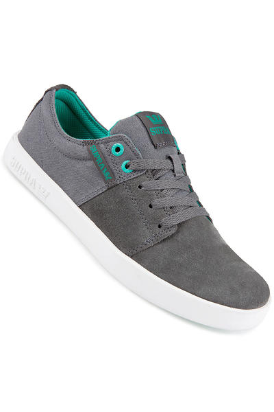 Supra Stacks II Suede Shoe (charcoal atlantis white)