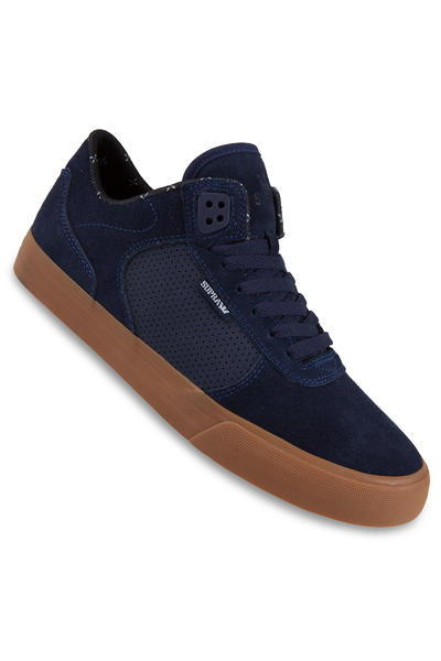 Supra Ellington Vulc Suede Shoe (navy gum)