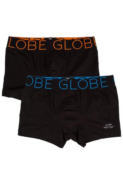 Globe Lindros 2 Boxershorts (black black) 2 Pack