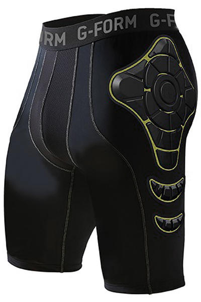 G-Form Pro-X Compression Crash Pants (black yellow)
