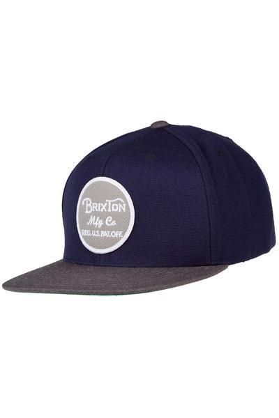 Brixton Wheeler Snapback Cap (navy charcoal)