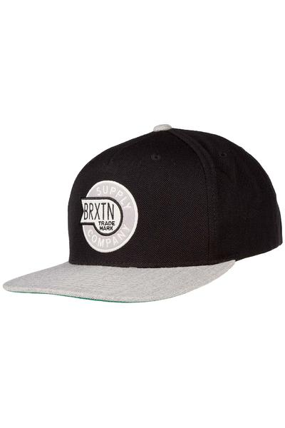 Brixton Sledd Snapback Cap (black light heather grey)