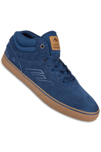 Emerica The Westgate Mid Vulc Suede Shoe (dark blue gum)