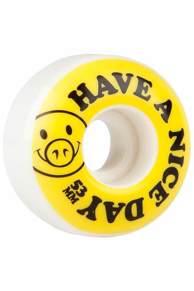 Pig Nice Day 53mm Rollen (white yellow) 4er Pack