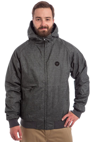 Cleptomanicx Polarzipper Hemp 2 Jacket (heather dark grey)