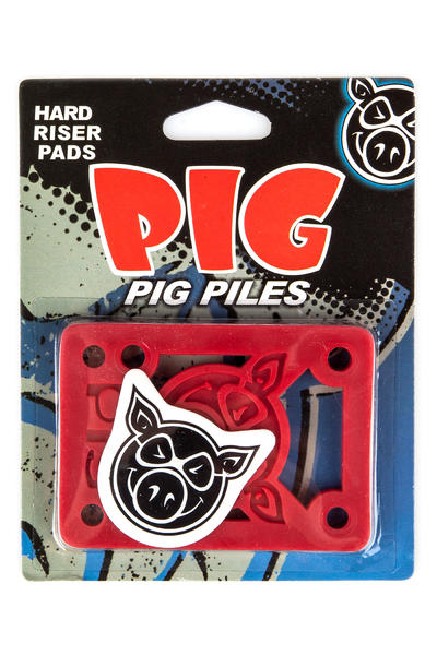 "Pig Piles 1/8"" Riser Coussinet (red) 2 Pack"