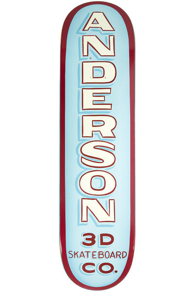 "3D Skateboards Anderson Forrest Sign 8.25"" Deck (light blue)"