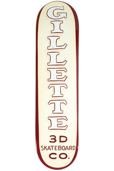 "3D Skateboards Gillette Forrest Sign 8"" Deck (beige)"