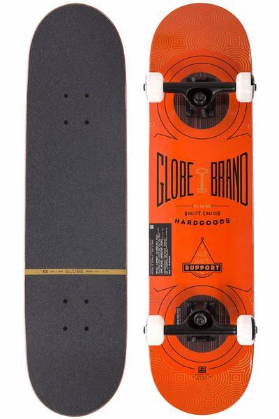 """Globe Banger 7.75"""" Complete-Board (burnt red)"""