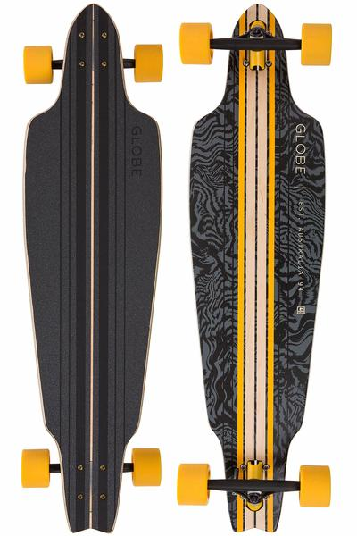 "Globe Prowler 38,5"" (97,8cm) Complete-Longboard (black yellow tailspin)"