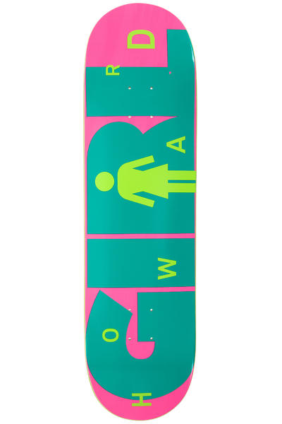 "Girl Howard Advertype 8.5"" Deck (pink turquoise)"
