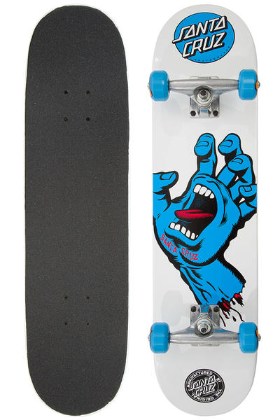"Santa Cruz Screaming Hand 7.75"" Komplettboard (white)"