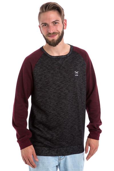 Iriedaily Slubhead Raglan Sweatshirt (anthracite red)