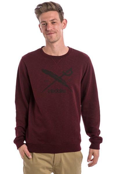 Iriedaily Slub Logo Sweatshirt (maroon melange)
